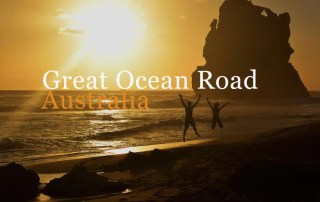 Twelve apostles sunset beach great ocean road victoria australia