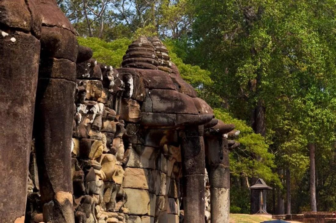La terraza de los elefantes Angkor Wat