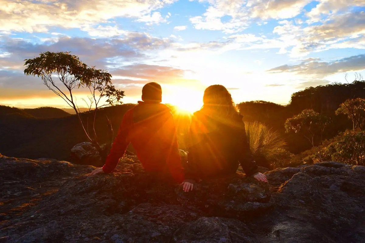 Sunset rock lookout Blue Mountains NSW Australia 2