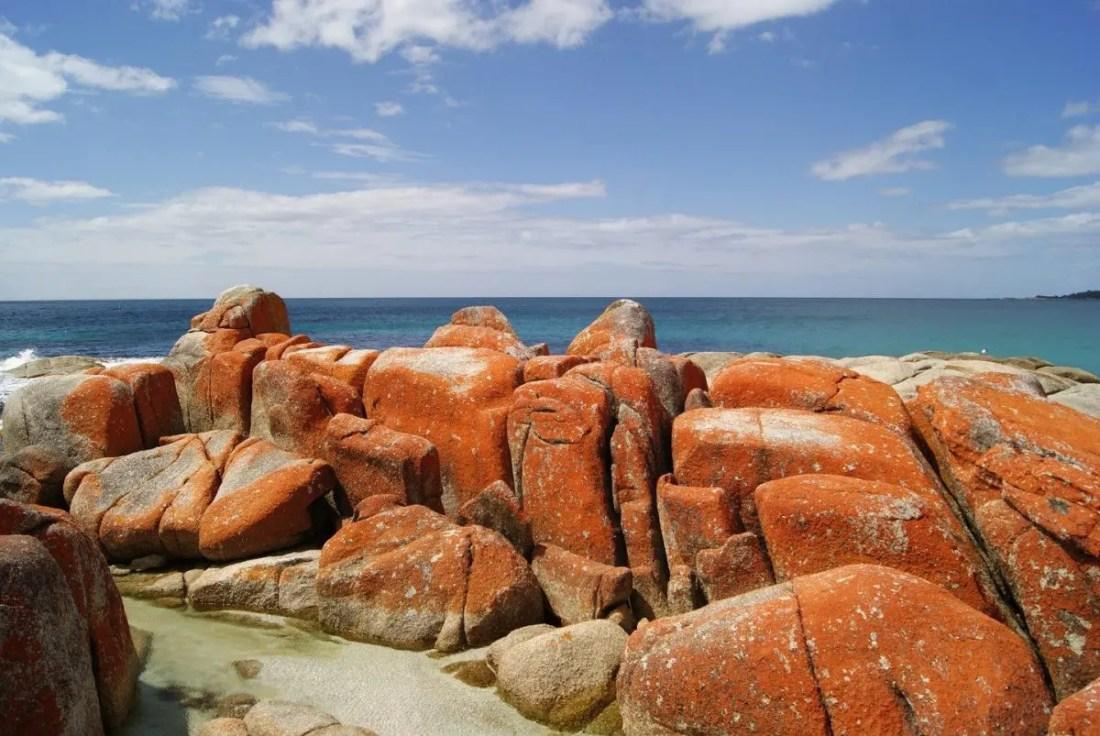 Bay of Fires, Tasmania. Recorrer Australia en motorhome