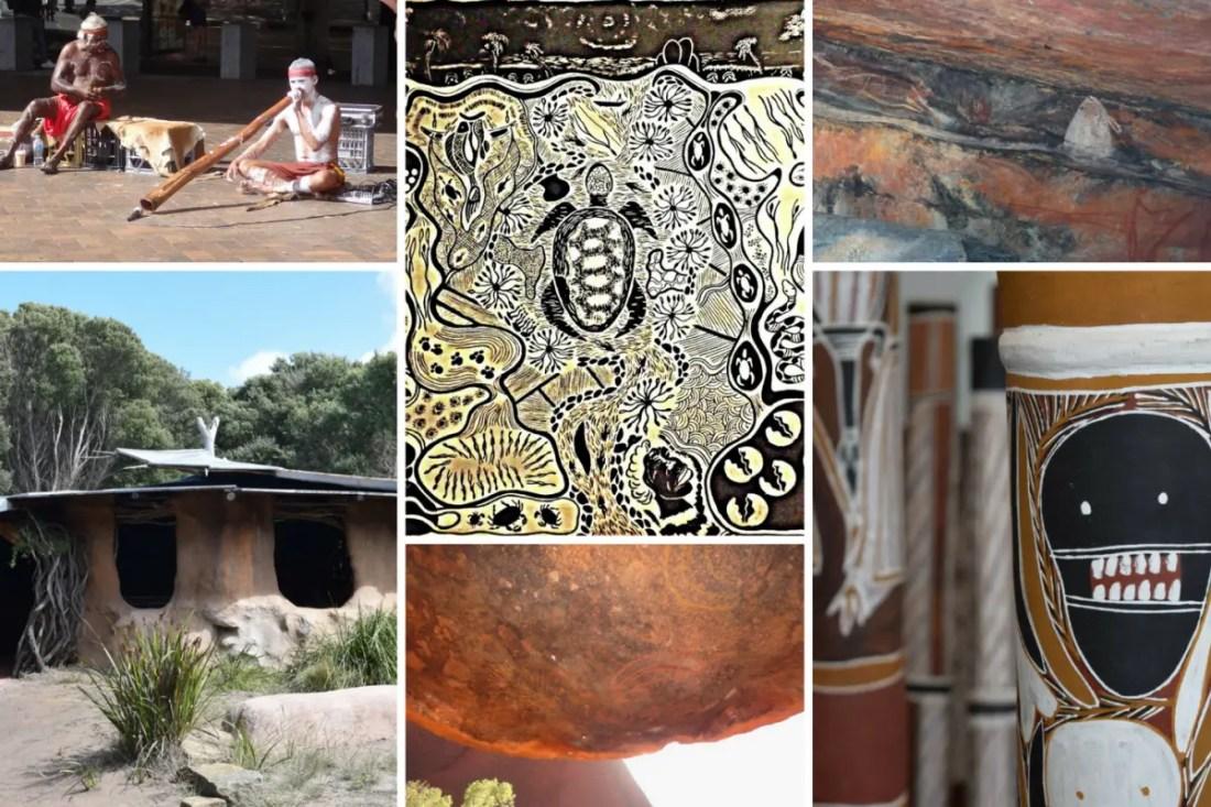 Cultura Aborigen Collage. Cómo es Australia