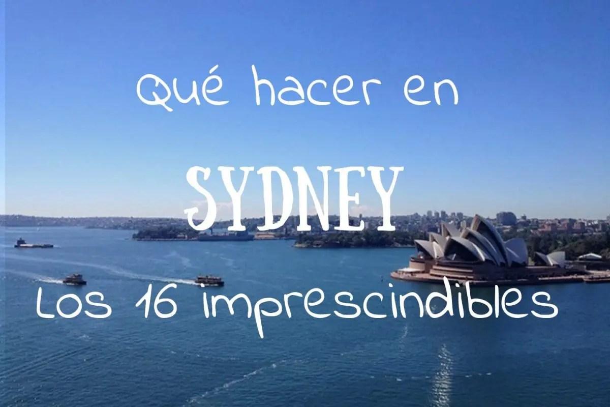 Portada Qué hacer en Sydney