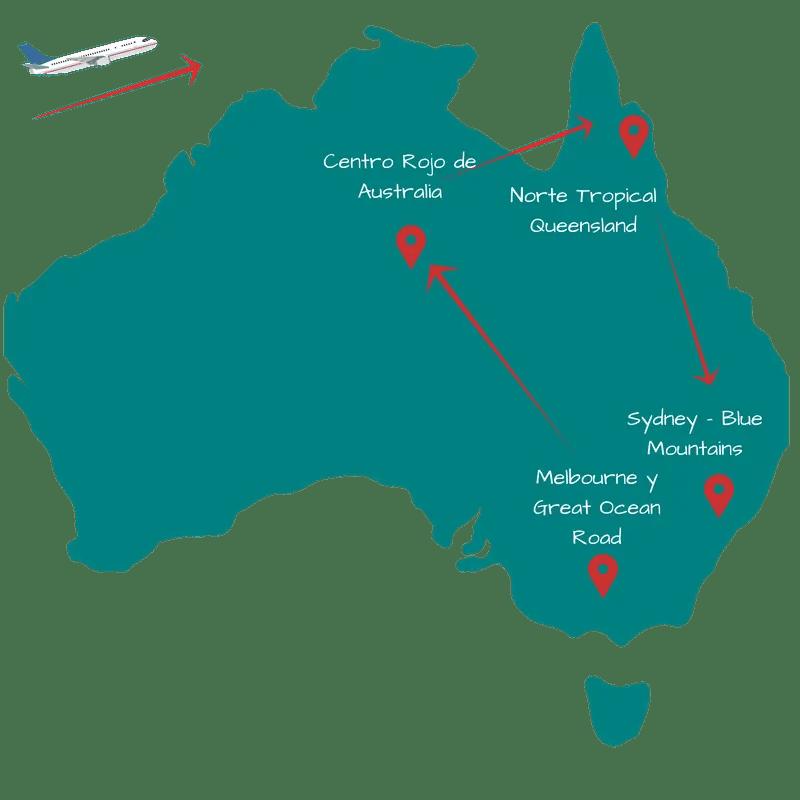 Viaje Australia 15 días. Itinerario 1
