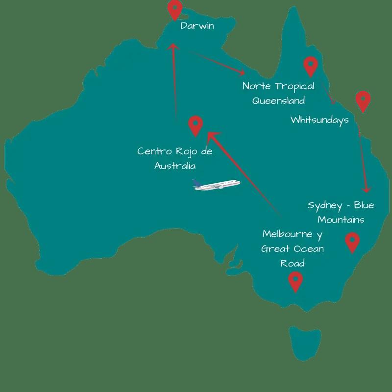 Ruta de invierno 1 mes por Australia