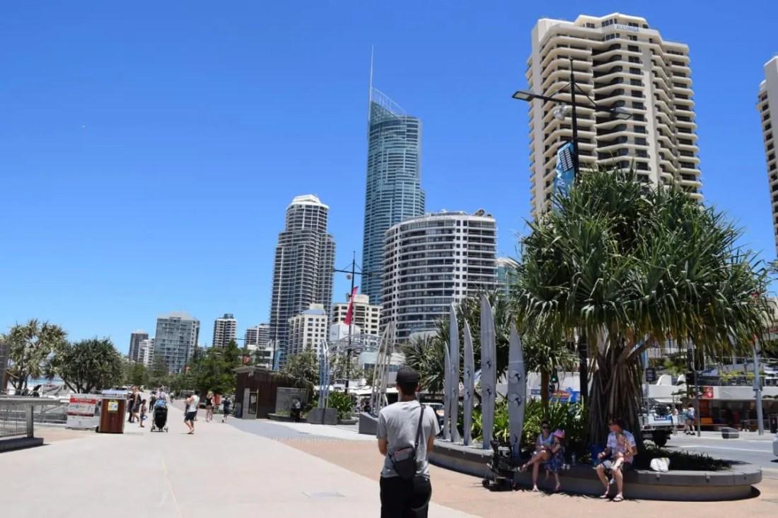 Paseo por surfers paradise Gold Coast Australia
