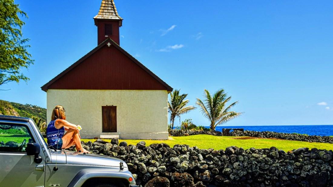 Iglesia de Huialoha Road to Hana Maui Hawaii