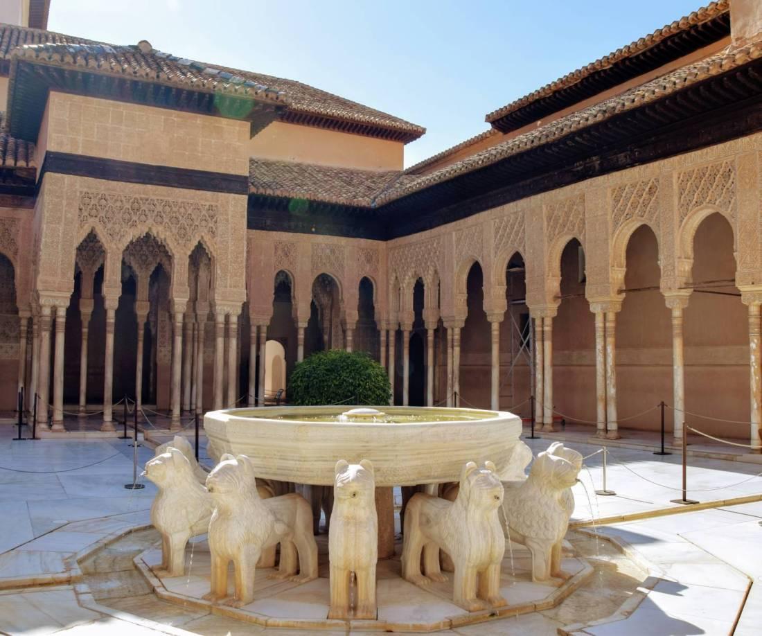 Patio de los Leones La Alhmabra de Granada