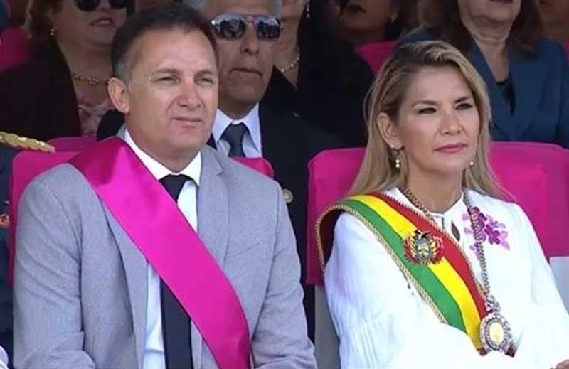 Áñez y el ministro López