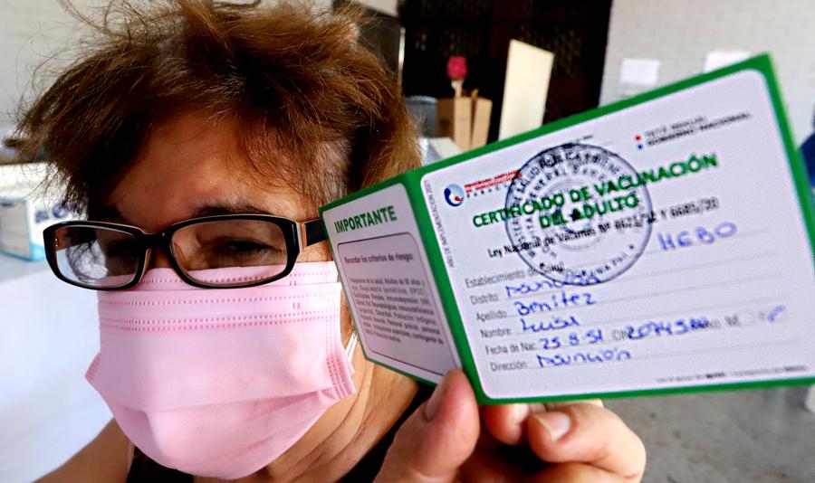 tarjeta de vacunación enParaguay,