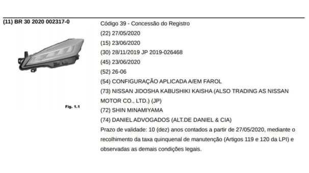 Nissan_Kicks_2021_registro_INPI_Brasil_2