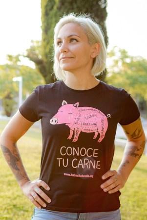 Camiseta Conoce tu Carne Mujer