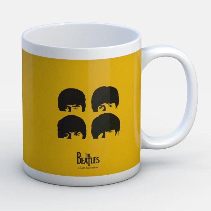 Beatles Inmortales Amarillo - Jarro de cerámica personalizado