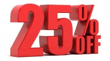 25% de descuento por inauguración