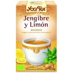 Infusiones Jenjibre y Limon 17 bolsitas, YOGI TEA