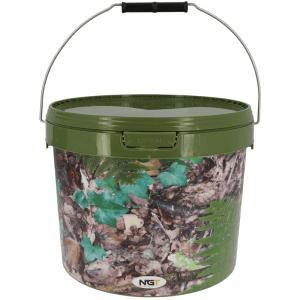 NGT cubo de 5 litros camuflae con asa de metal 3 - NGT Cubo de 5 litros color camuflaje