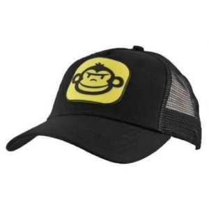 gorra rigde monkey negra y amarillo - Gorra Ridge Monkey negra logo amarillo