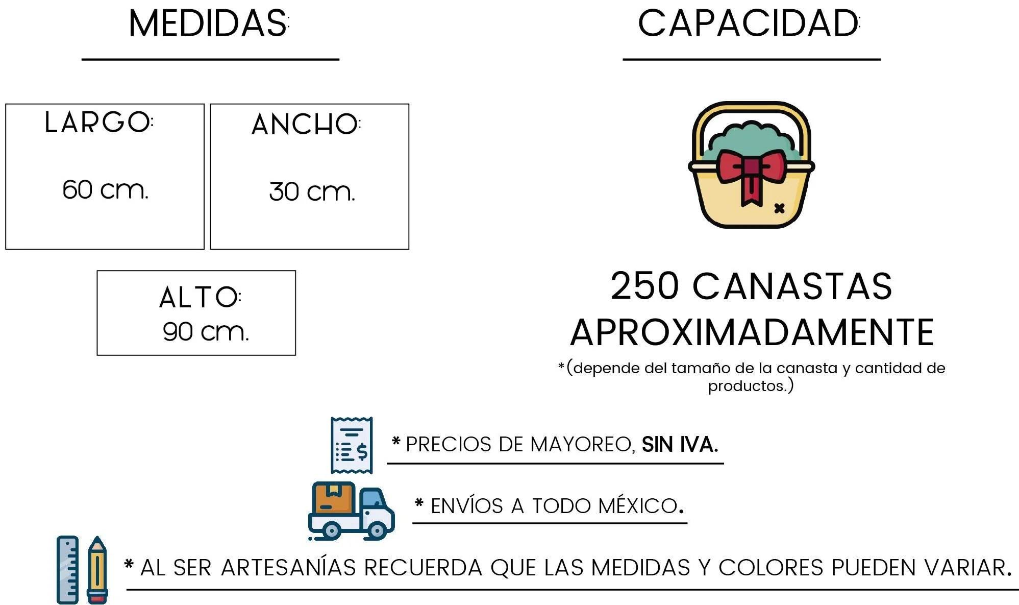 Medidas Paca de Viruta by Tienda de Canastas