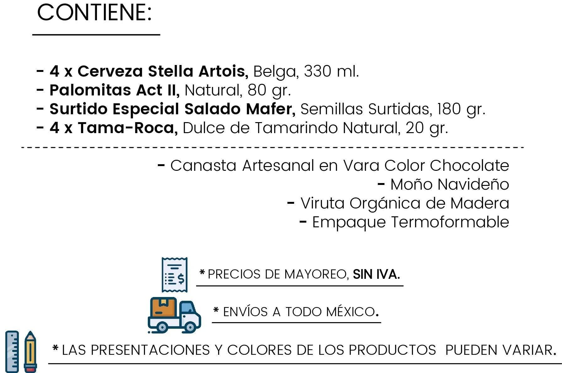 Contenido Canasta 4 Stellas by Tienda de Canastas