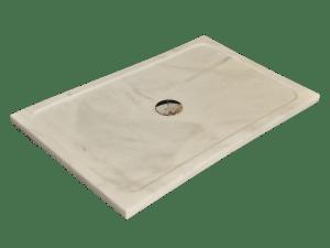 Plato de Ducha modelo URANO en mármol blanco macael