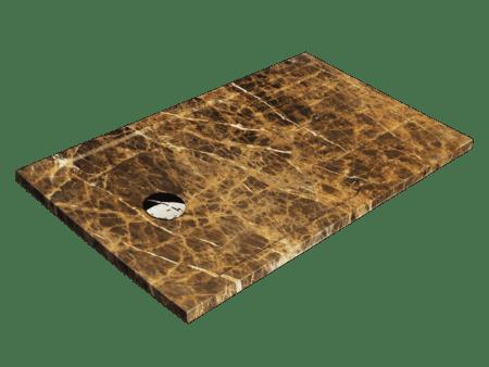 Plato de ducha modelo MARTE en mármol marrón imperial