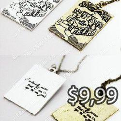 Collar Libros Harry Potter Ecuador Comprar Venden, Bonita Apariencia, practica, Hermoso material bronce Color plateado Estado nuevo
