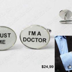 Gemelos Doctor profesiones bisuteria Trust me I'm a Doctor Medico profesion tienda friki