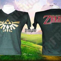 camiseta The Legend of Zelda Videojuegos ropa triforce la leyenda de zelda Gamer tienda friki