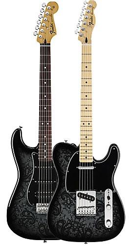Fender Strat y Tele BLACK PAISLEY