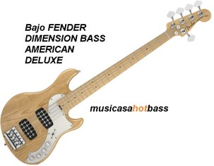 Fender American Deluxe Dimension Bass V MN NAT