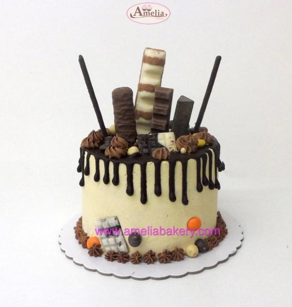 Pastel kinder 6 pax drip cake
