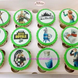 Caja de 12 Cupcakes Fortnite