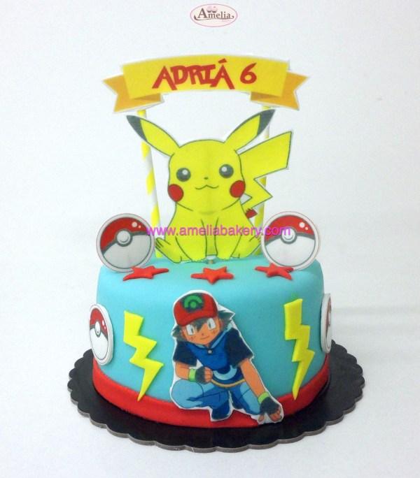 Tarta pokemon pikachu oblea 3d y nombre