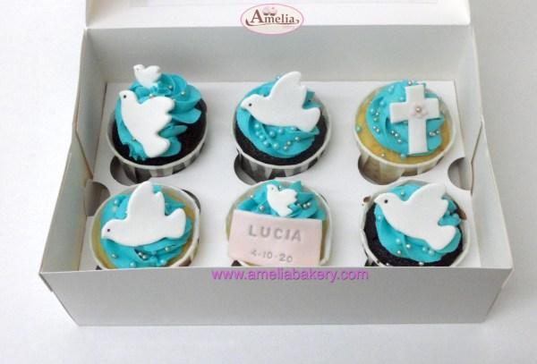 Caja de 6 ó 12 Cupcakes Comunión
