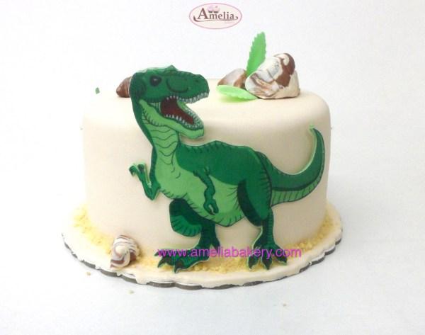 Tarta Fondant Dinosaurio infantil