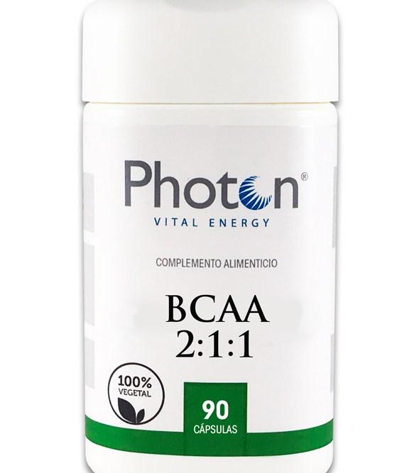 Aminoacidos BCAA Photon, cápsulas vegetal que proporciona aminoácidos que el cuerpo no genera por si solo.