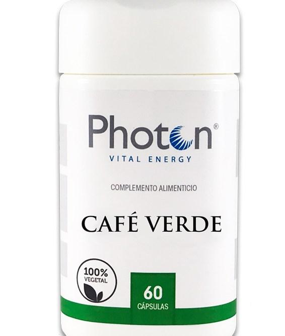 Café Verde Descafeinado Photon capsulas con propiedades analgesicas diureticas y antioxidantes