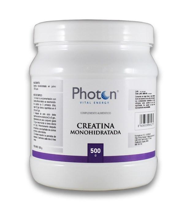 creatina monohidratada photon, polvo para aumentar fuerza y resistencia muscular
