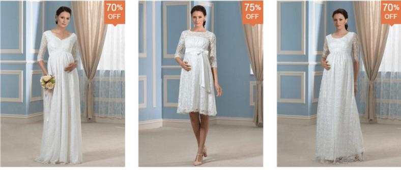 vestidos de novia para embarazadas dresswe