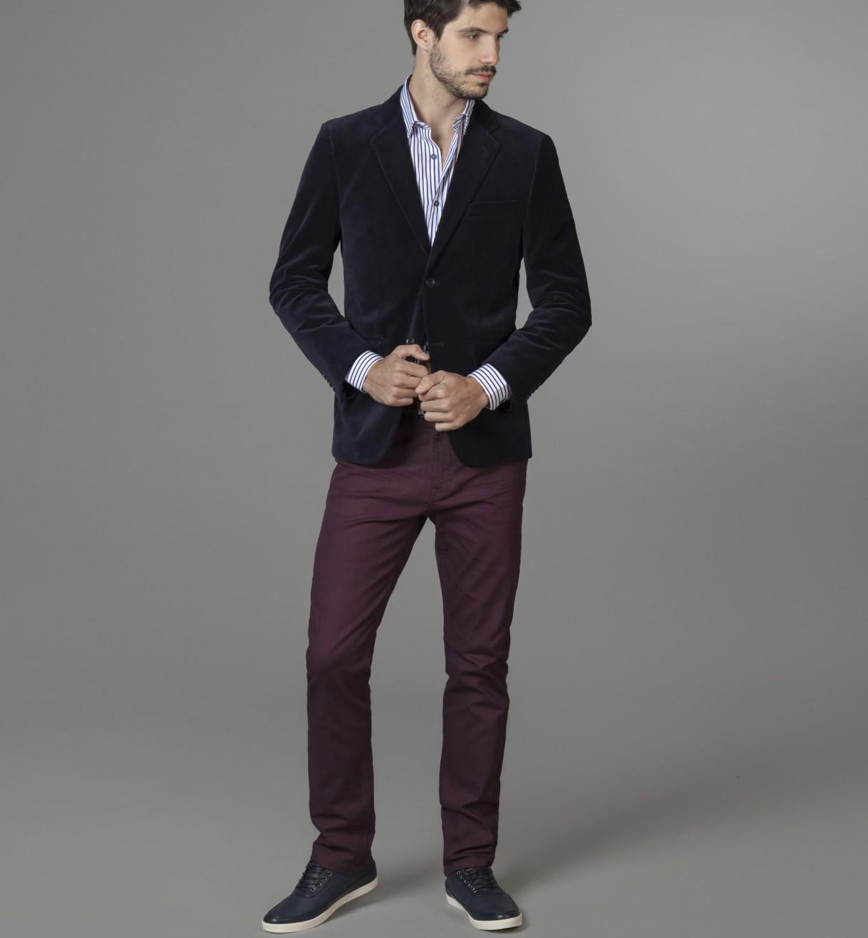 Saco Vestir Pana Slim Fit Devré - Tiendas Exclusivas 618acff6a6dc