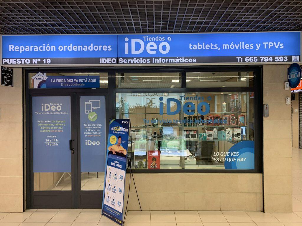 Tienda iDeo - Tienda de reparación de ordenadores, tablets y móviles en el Mercado de Orcasitas
