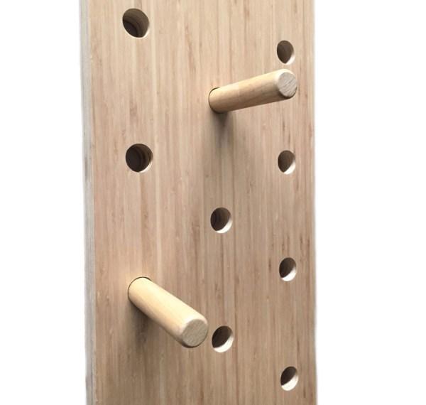 Muro de escalada de madera
