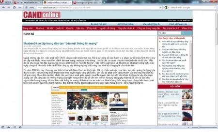 Báo điện tử CAND khen MuaBan24