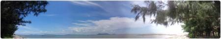 Bãi Cần Giờ, chắc đi bộ là sang được Vũng Tàu phía bên kia biển quá! Click để xem ảnh phóng to