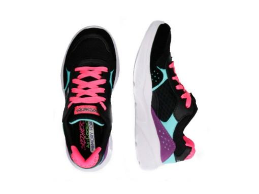 Tenis-Zapatillas-Skecher-Meridian-Charted-Mujer-Negro-Fucsia-mod-2020