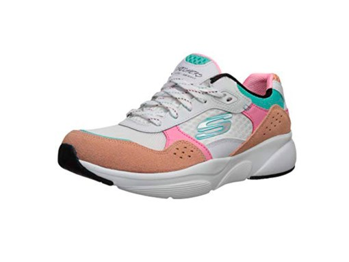 tenis-Zapatillas Skecher-Mujer-Meridian-Charted-Blanco-piel-celeste-rosa 2020