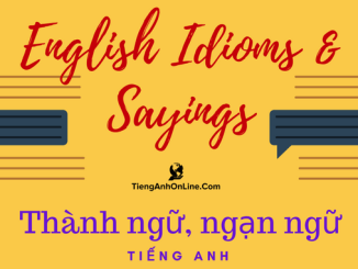 English Idioms & Sayings