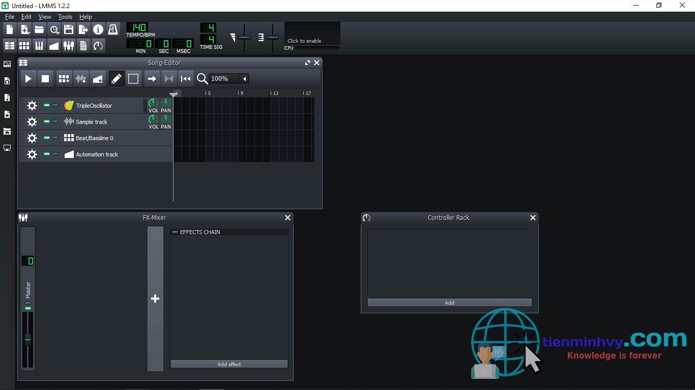 LMMS, trình soạn nhạc chuyên nghiệp miễn phí