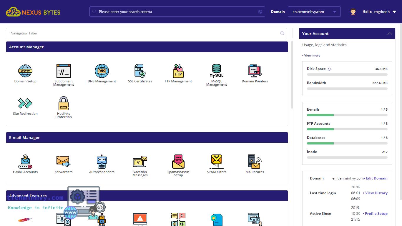 Một số dịch vụ hosting miễn phí