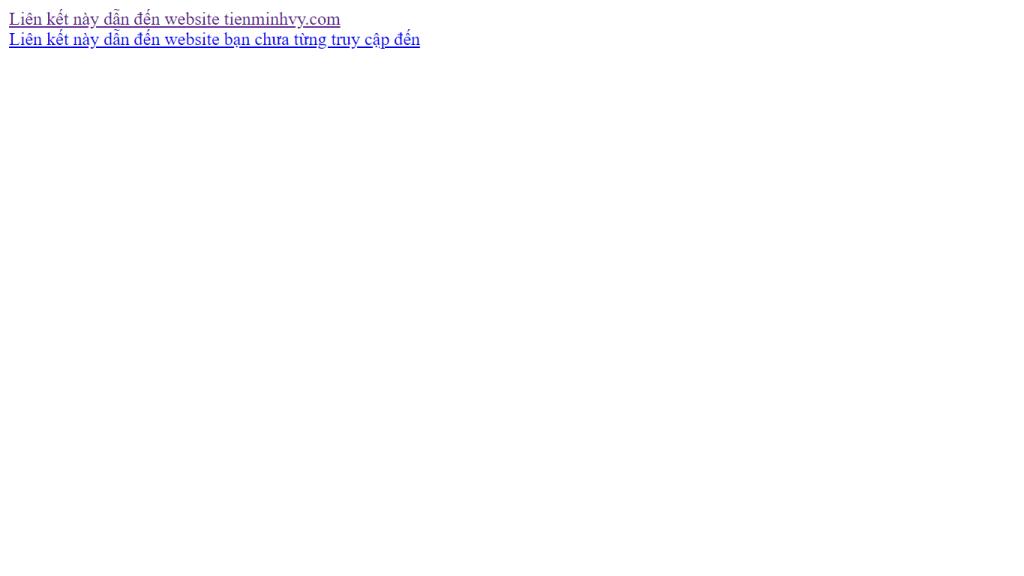 Ví dụ về liên kết đã truy cập và chưa từng truy cập