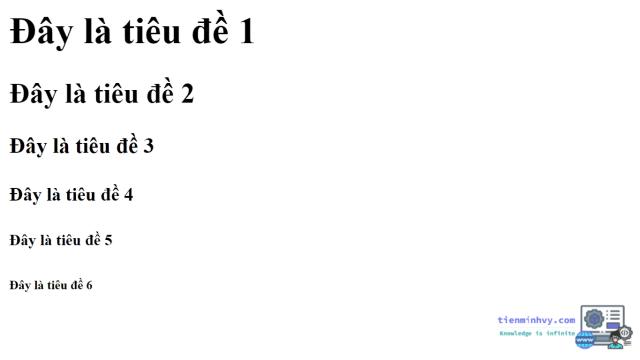 Định dạng văn bản trong HTML5 - thẻ tiêu đề
